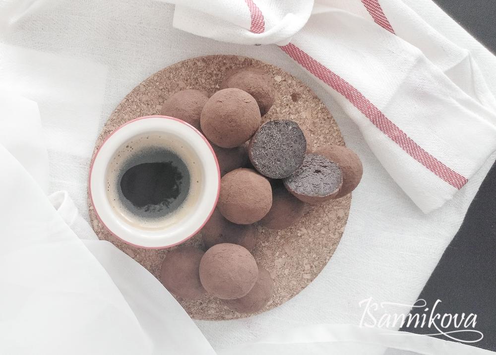Готовые шоколадные бисквитные трюфели