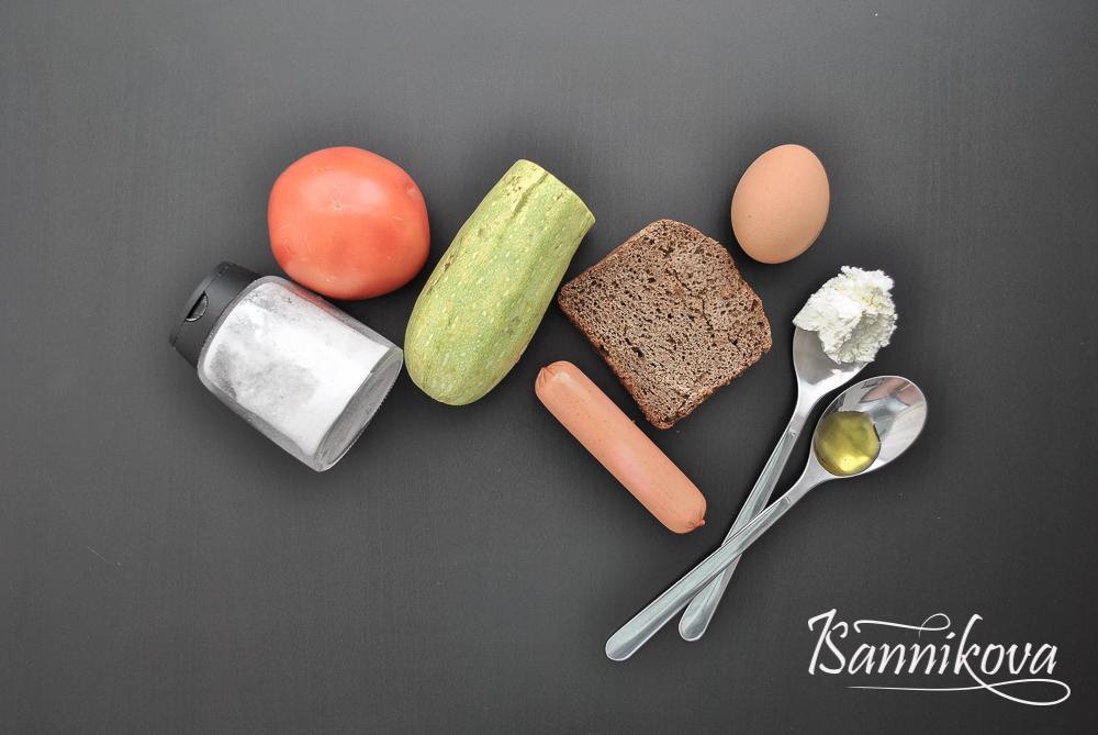 Список ингредиентов для омлета с тостами