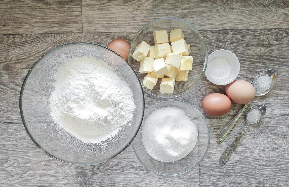 Ингредиенты для бельгийских вафель