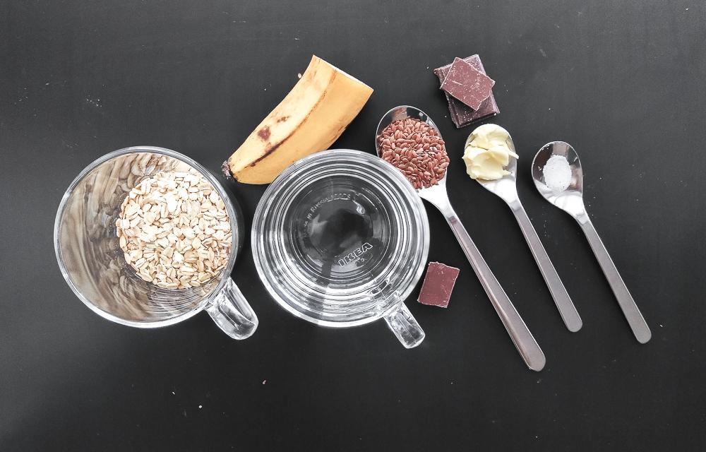 Список ингредиентов для овсяной каши