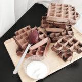 Готовые венские вафли с какао