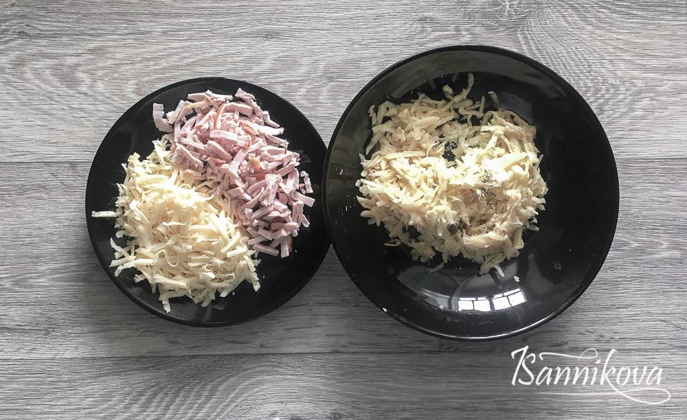 Подготовка ингредиентов для картофельного блина