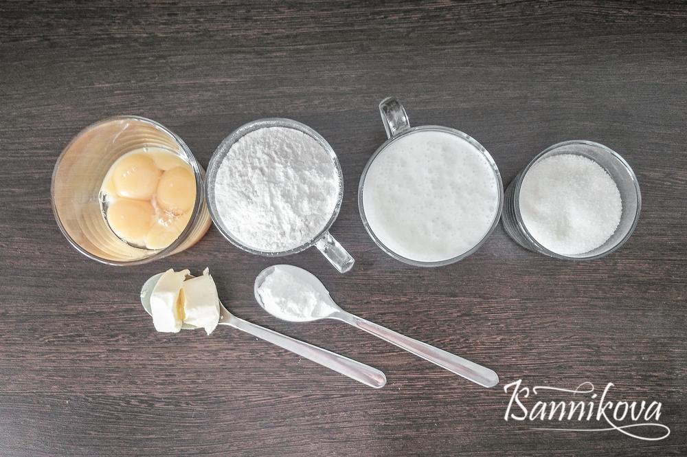Список ингредиентов для бисквита на кефире