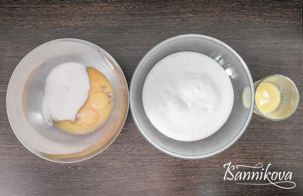 Подготовка всех ингредиентов для бисквитного теста