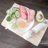 Глазунья с овощами готова