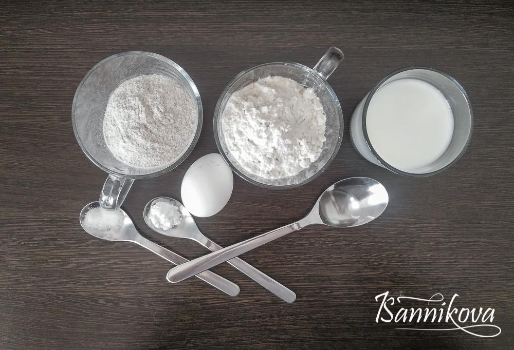 Список ингредиентов для ржаных вафель