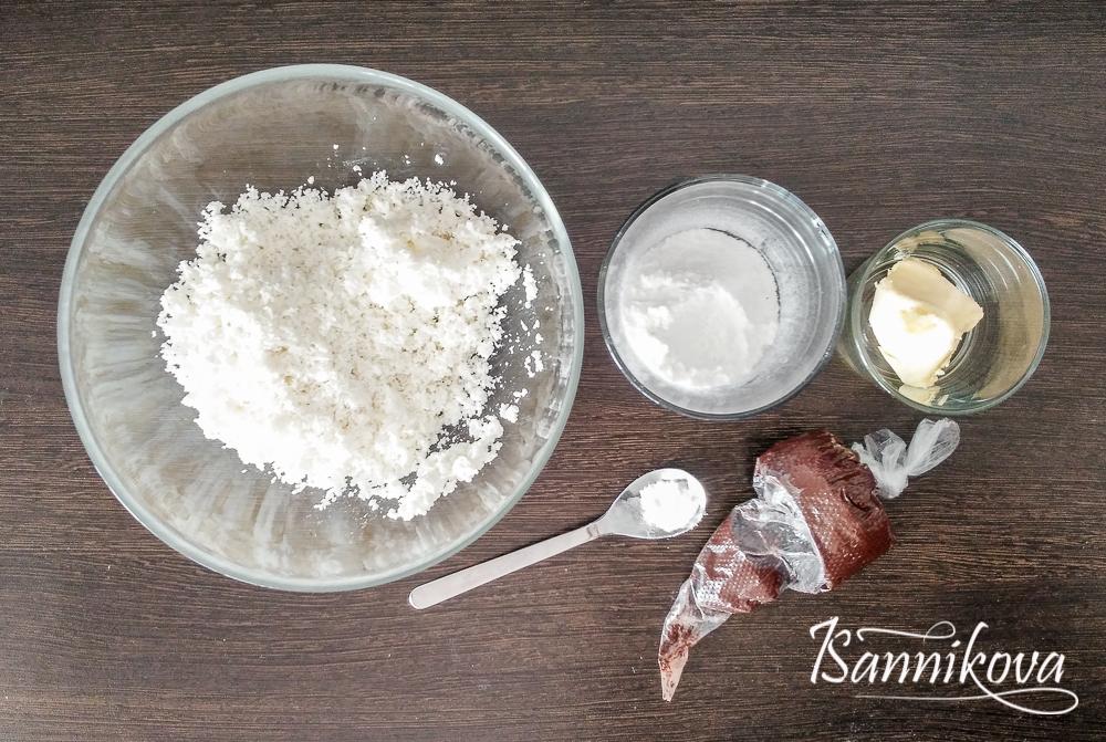 Ингредиенты для творожно-сливочных сырков