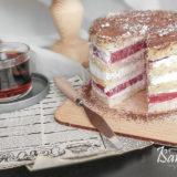 Торт «Малина со сметаной»
