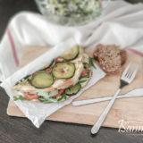 Кабачковый блин с овощами
