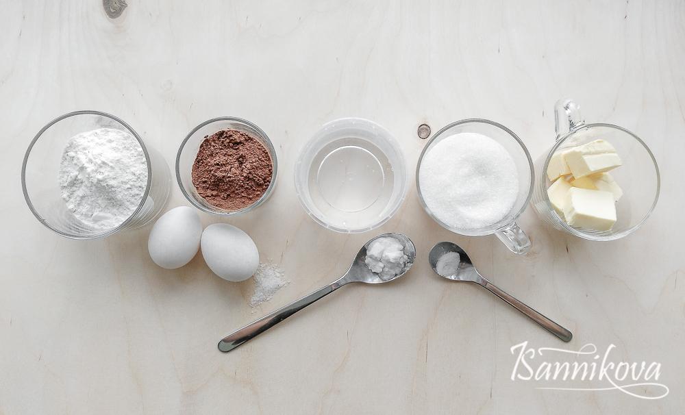 Список ингредиентов для торта Спартак без мёда