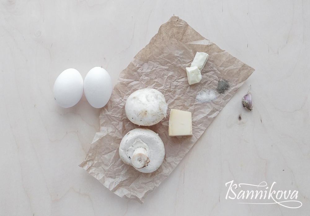 Список ингредиентов для омлета с грибами