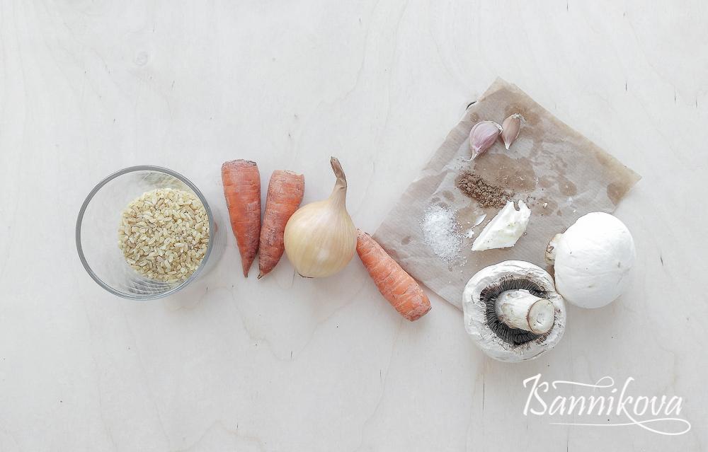 Список ингредиентов для булгура с овощами