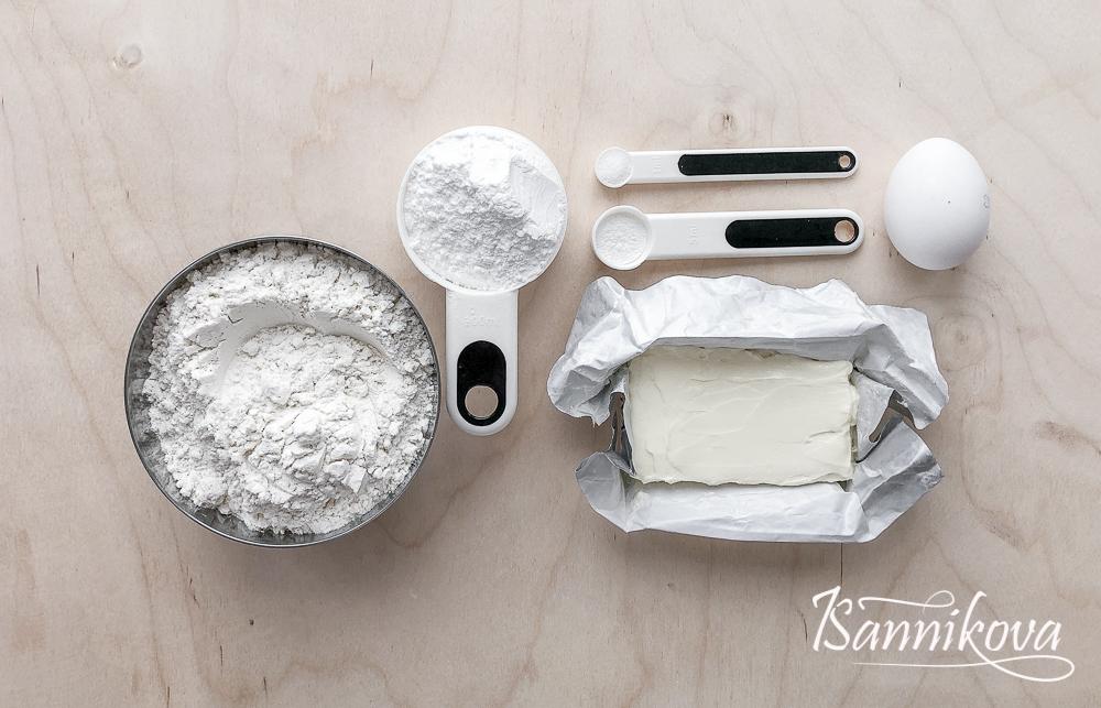Список ингредиентов для сладкого песочного печенья