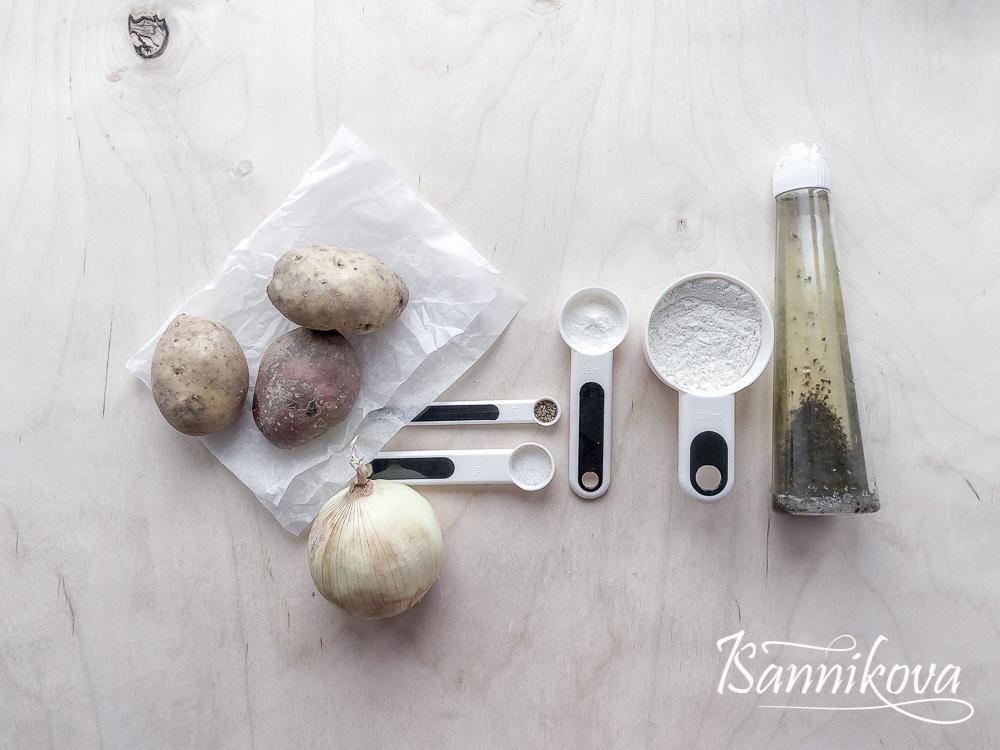 Список ингредиентов для драников без яиц